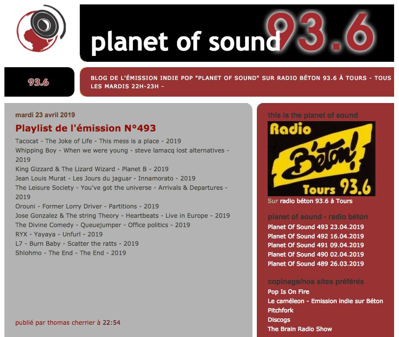 Orouni - Planet Of Sound - Radio Béton
