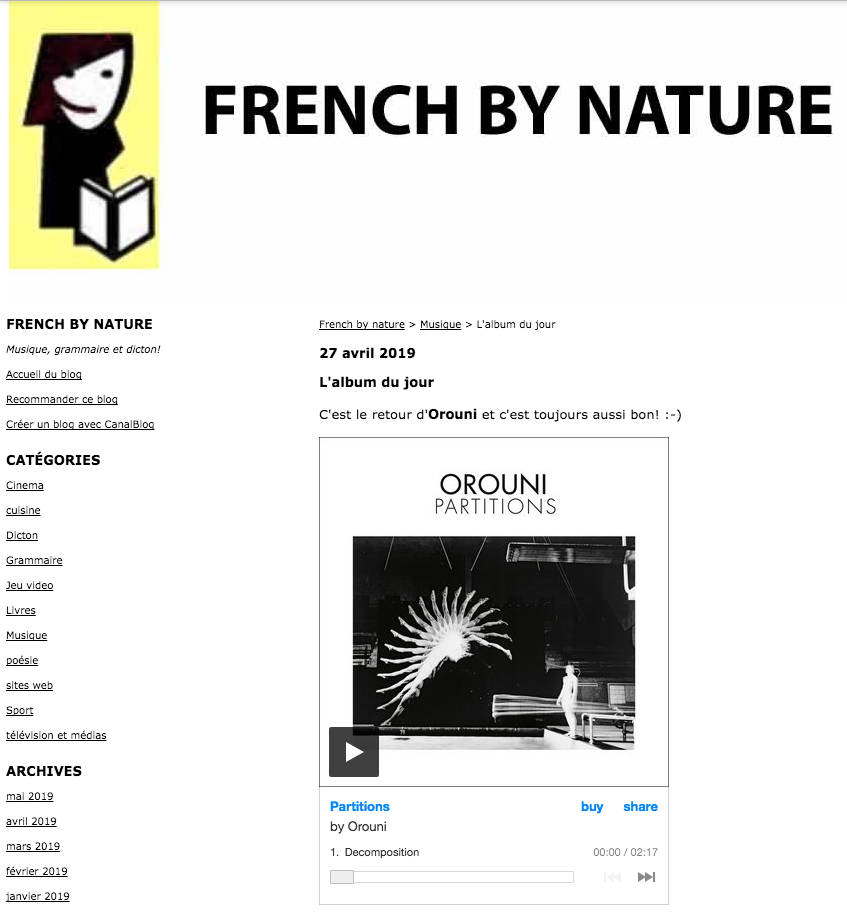 Orouni - French by nature