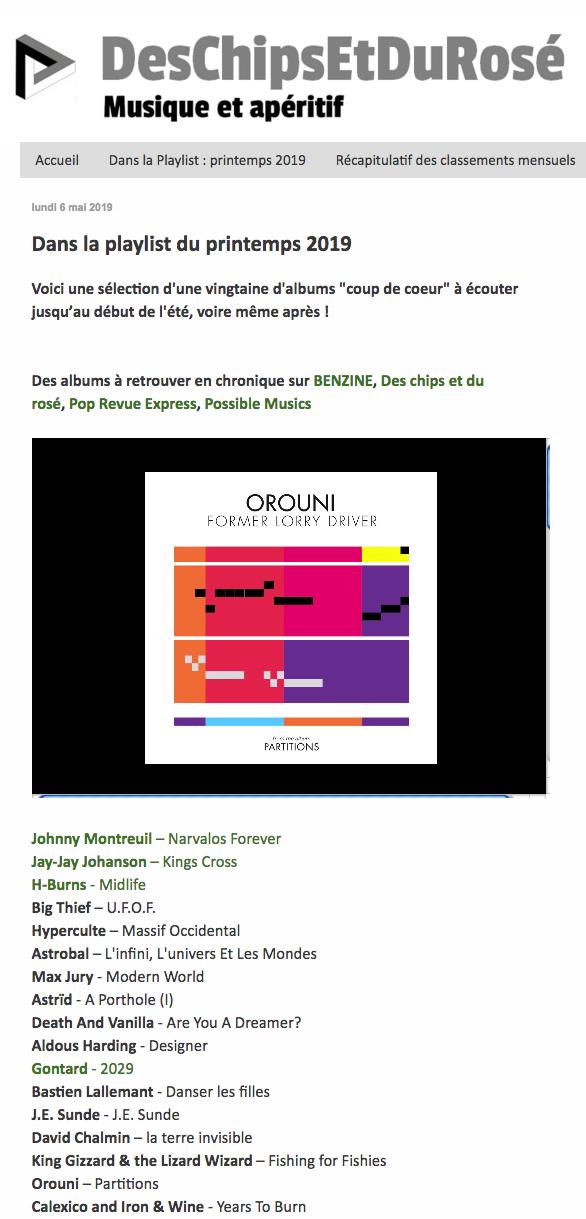 Orouni - Des chips et du rosé