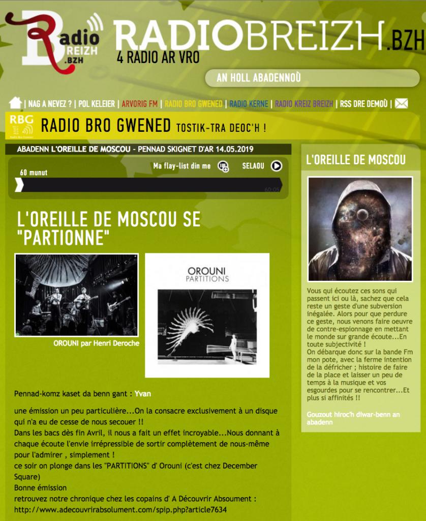 Orouni - L'oreille de Moscou / Radio Breizh