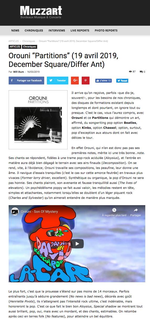 Orouni - Muzzart
