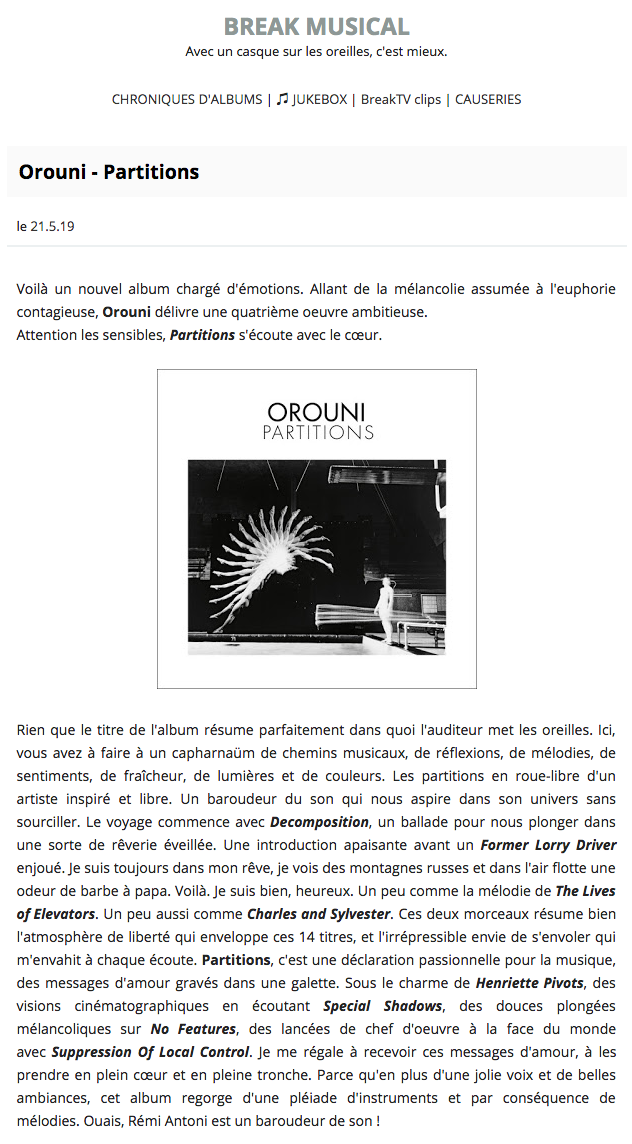 Orouni - Break Musical