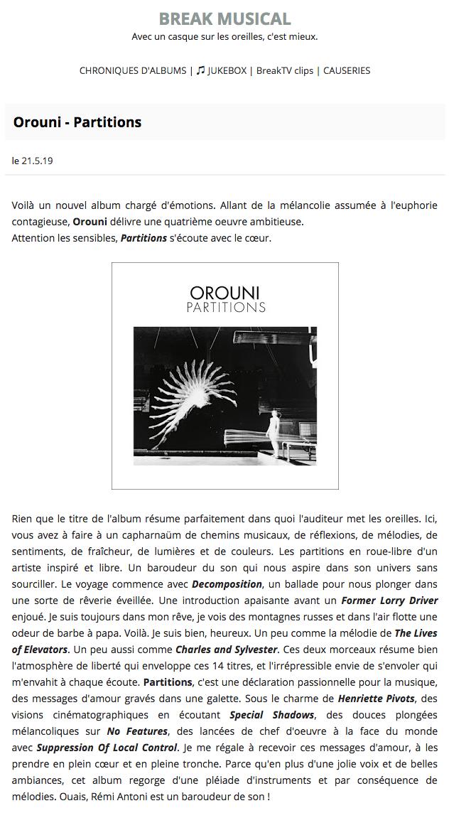 Orouni - Break Musical