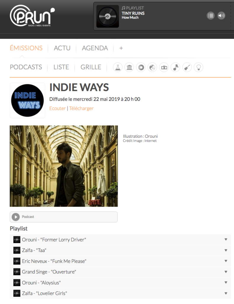 Orouni - Indie Ways - Prun'