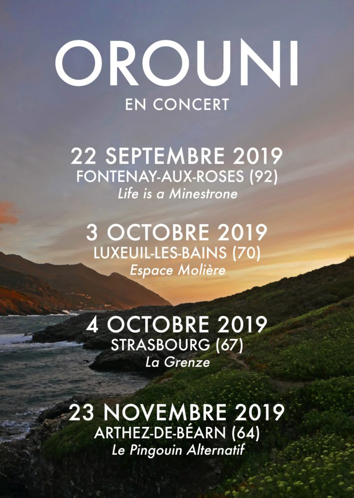 Orouni - French tour 2019