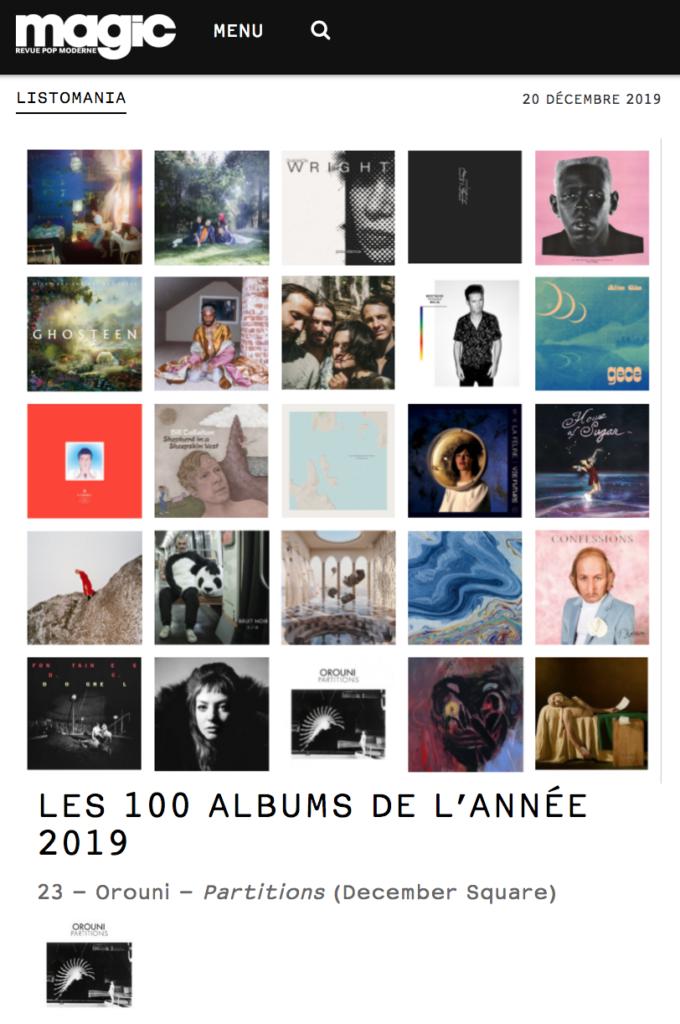 Orouni - Magic top 100 albums of 2019