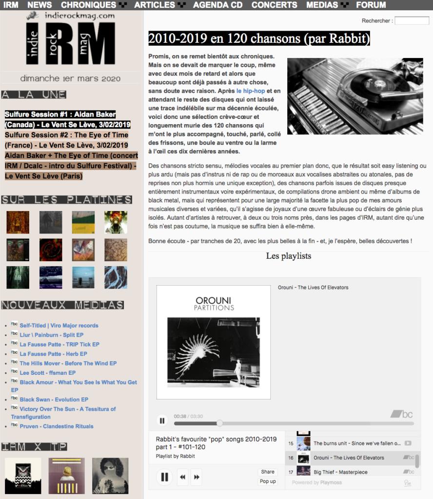 Orouni - Indie Rock Mag
